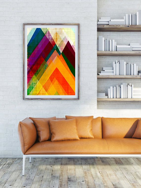 geometric print abstract geometric triangles art by AmyLighthall