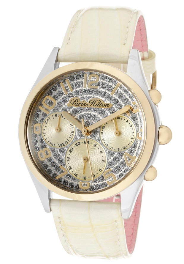 Price:$85.00 #watches Paris Hilton PH13107JST-04, With designs that embody the effortlessly chic and carefree nature of Paris herself, the Paris Hilton timewear collection offers trend setting designs to suit any occasion.