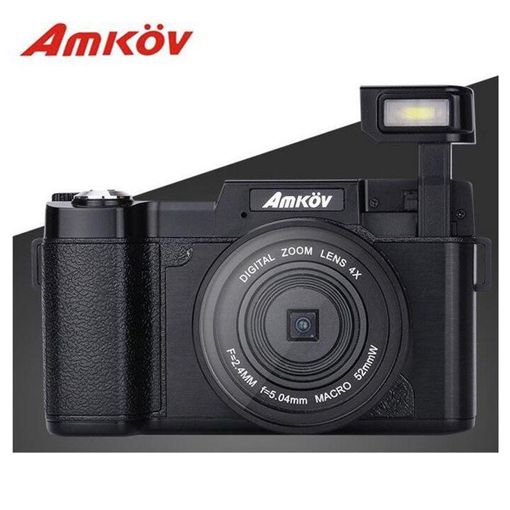 "CDR2 HD Digital Camera Professional3"" TFT Smile Capture Anti-shake Camaras Fotograficas UV Filter 0.45X Super Wide Angle Lens"