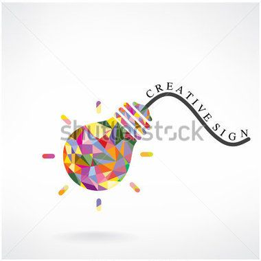 Креативные лампы идея концепции фон дизайн для плакат флаер обложка брошюры, Бизнес идея, иллюстрации абстрактный background.vector