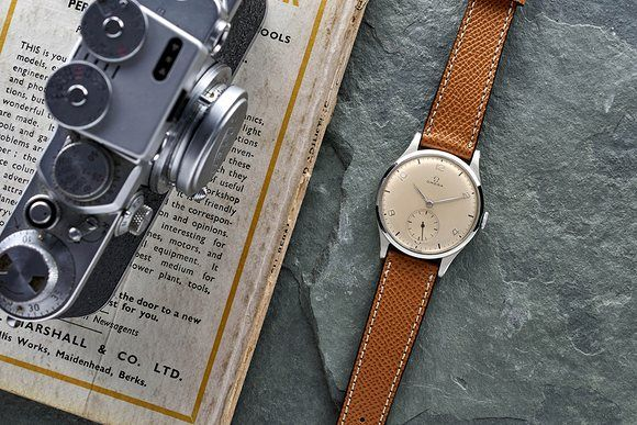In The Shop: A 1950s Eberhard Chronograph, A 1950s Omega Broad Arrow Military Reference 2777-1, And A 1960s Universal Genève Aero-Compax Reference 890100/01
