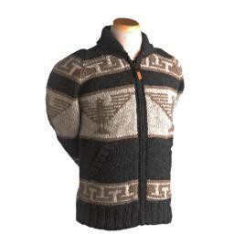 Phoenix Sweater Fleece-Lined, Black Natural, XL : P'LOVERS