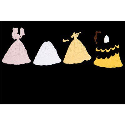 Disney Princess Enchanted Belle Die and Face Stamp (384496) | Create and Craft