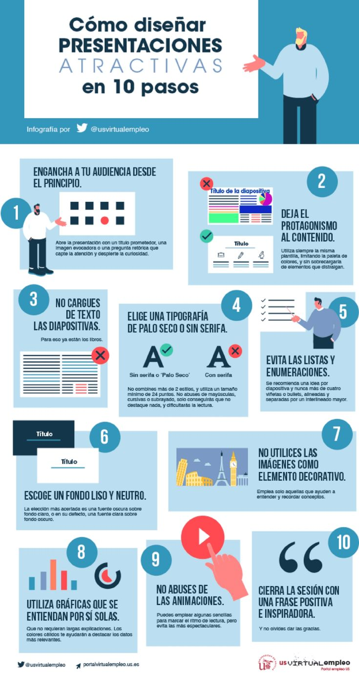 #Presentaciones atractivas en 10 pasos #infografia