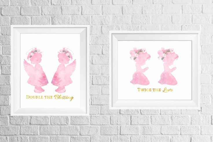 A personal favorite from my Etsy shop https://www.etsy.com/listing/568322331/twins-room-or-nursery-decor-print-set