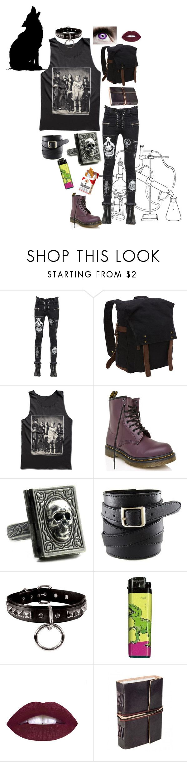 """Smells Like The Only Nirvana Song You Know"" by x-shadow-phoenix-x ❤ liked on Polyvore featuring Unravel, Vagabond Traveler, Dr. Martens and L.A. Girl"