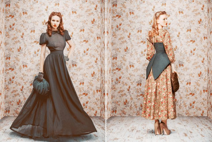 Ulyana Sergeenko -- Russian fashion editor, photographer, and designer. Her own looks are wonderfully dramatic, romantic, and feminine, as well as her new lines.