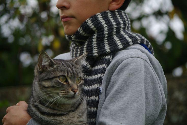 écharpe tigrée au crochet