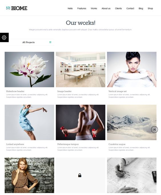 Biome is a responsive one page WordPress template with WooCommerce compatibility, Mega Menu, Revolution Slider. It is SEO optimised and is fully compatible with social networking sites such as Twitter, Flicker, and more.