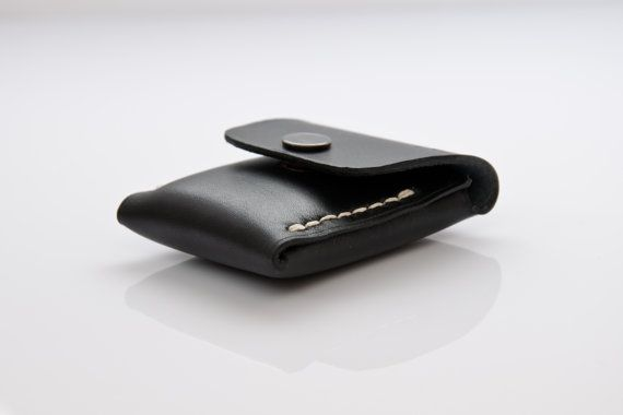 Small Coin Pouch in Black Coal, Coin Wallet, Coin Purse, Leather Coin Pouch, Small Leather Pouch, Mens Coin Purse, Leather Wallet, Wallet