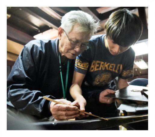 Kento Yamazaki, in training Wajima lacquer