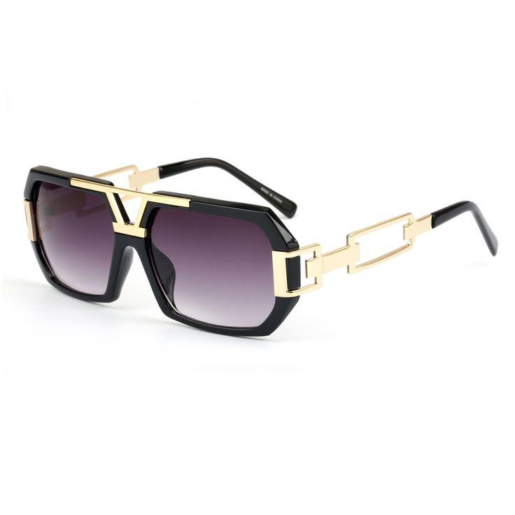 2017 Souson Lunette De Soleil Femme Vintage Sunglasses Women Black&Gold Frame Goggle Eyewear Gradient Lens