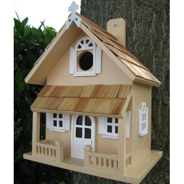 Victorian Bird Houses  Back mounted Victorian Decorative Bird House with pine shingles and two story design.