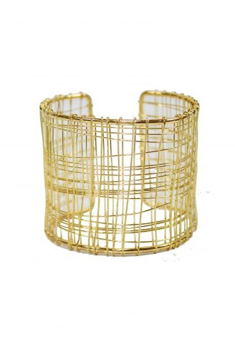 Bracelet grille doré