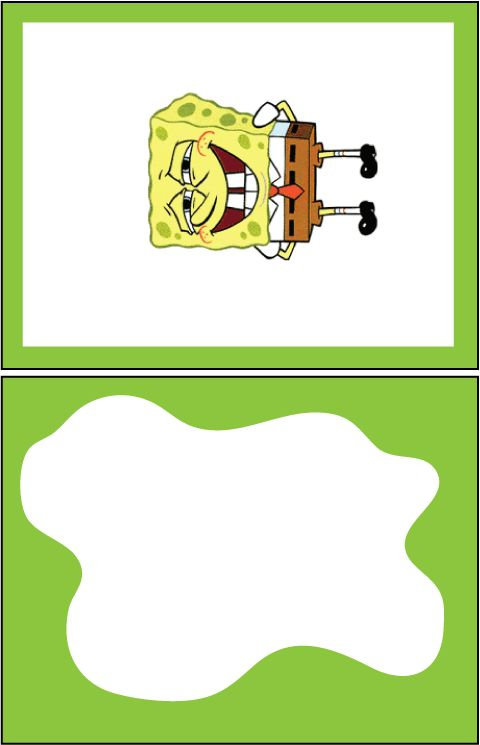 spongebob birthday party ideas | Free printable sponge bob birthday card - Welcome
