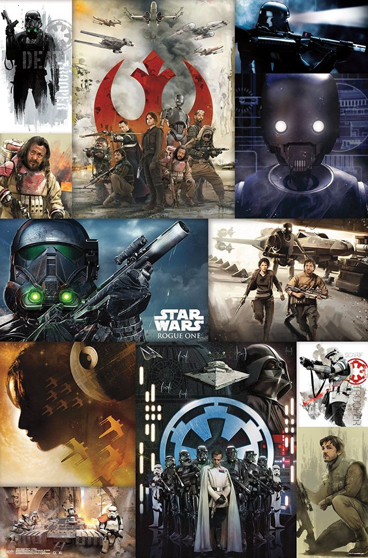 Bedroom wall with posters - Rogue One Collage Poster