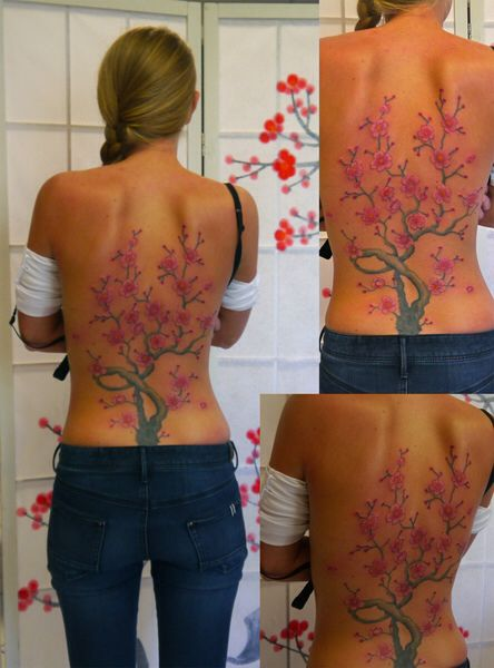 Cute Cherry blossom tree tattoo
