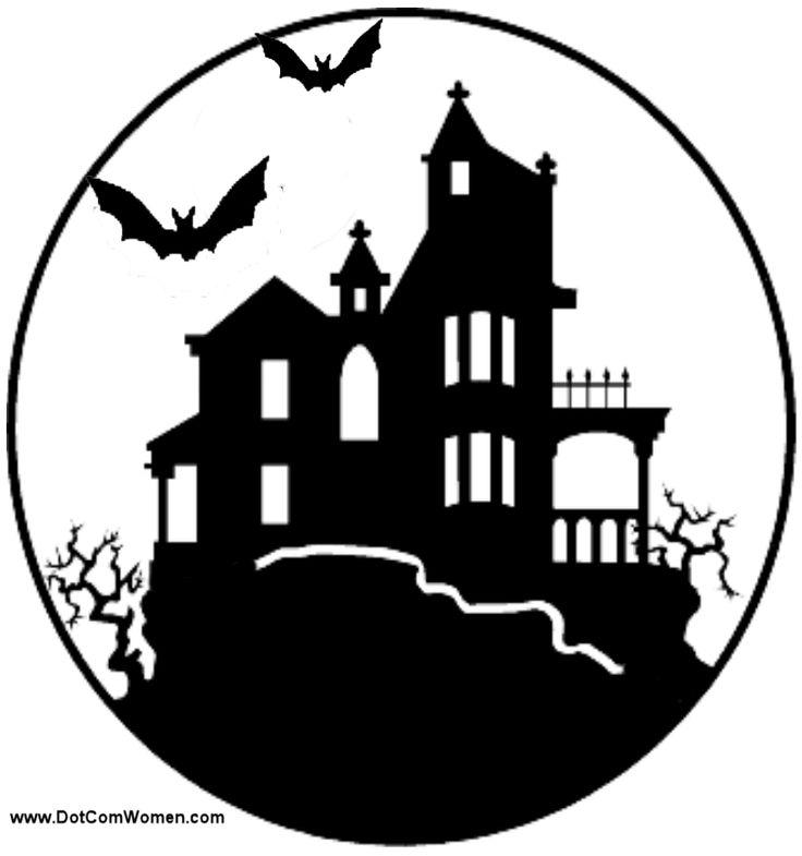 Printable pumpkin stencils house pattern free