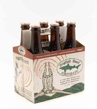 Dogfish Head - $16.99 Witbier bursting with good karma. Made with dried organic orange slices, lemongrass, and a bit of coriander. 4.8% ABV