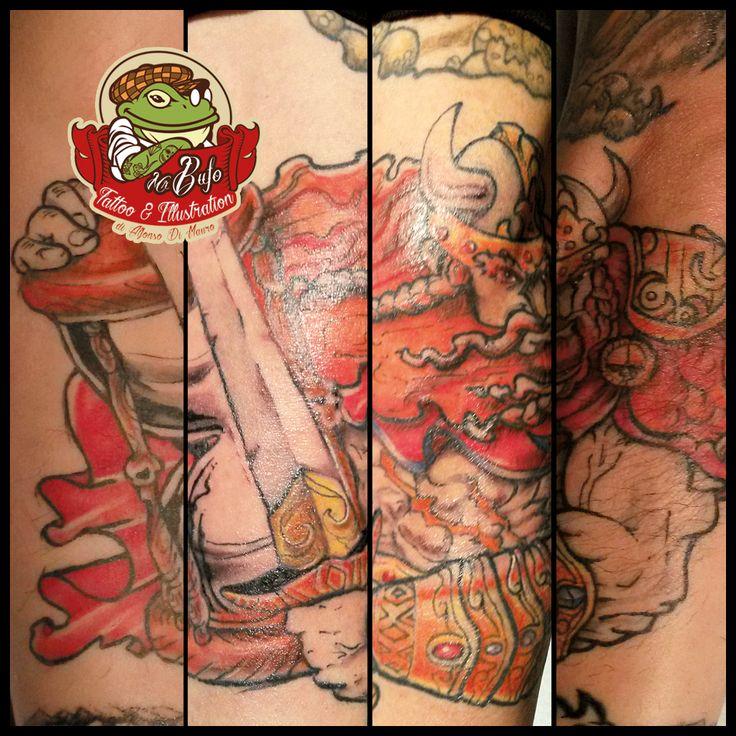 Old Viking  #misterbufotattoo #tattooitaly #tattoolife #vikingtattoo #warriortattoo #swordtattoo #armtattoos #medievaltattoos #coloredtattoo