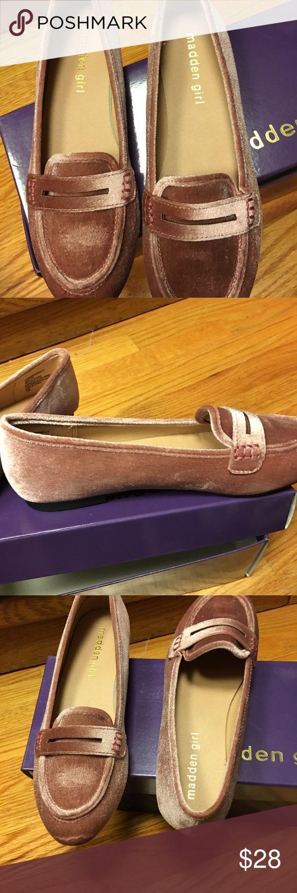 Pink velvet Steve Madden loafers 6.5 Pink velvet Steve Madden loafers.  New in box 6.5 Steve Madden Shoes Flats & Loafers