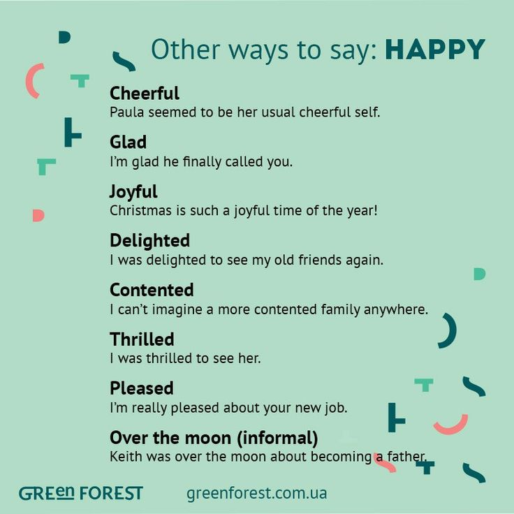 Other ways to say: Happy