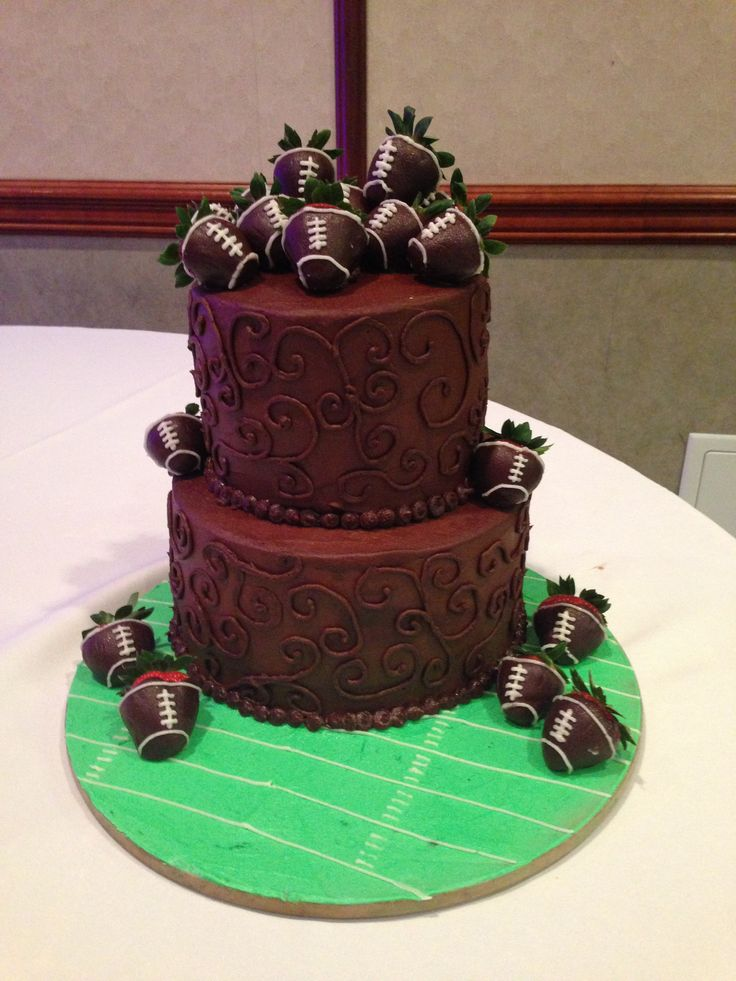 25 Best Ideas About Football Grooms Cake On Pinterest