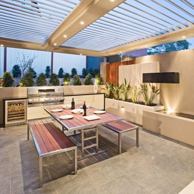 Inspiration - Outdoor entertaining area, perfect for having barbecue even if it rains #inspiration #buildingdreams #outdoor #entertaining #barbecue #missthesun