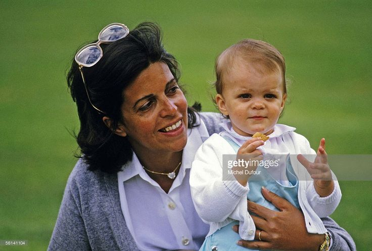 Christina Onassis, daughter of Greek shipping magnet Aristotle Onassis. is seen with her daughter Athina in Paris, France.