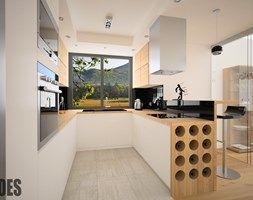 Aranżacje wnętrz - Kuchnia: Projekty kuchni - Kuchnia, styl nowoczesny - OES architekci. Przeglądaj, dodawaj i zapisuj najlepsze zdjęcia, pomysły i inspiracje designerskie. W bazie mamy już prawie milion fotografii!