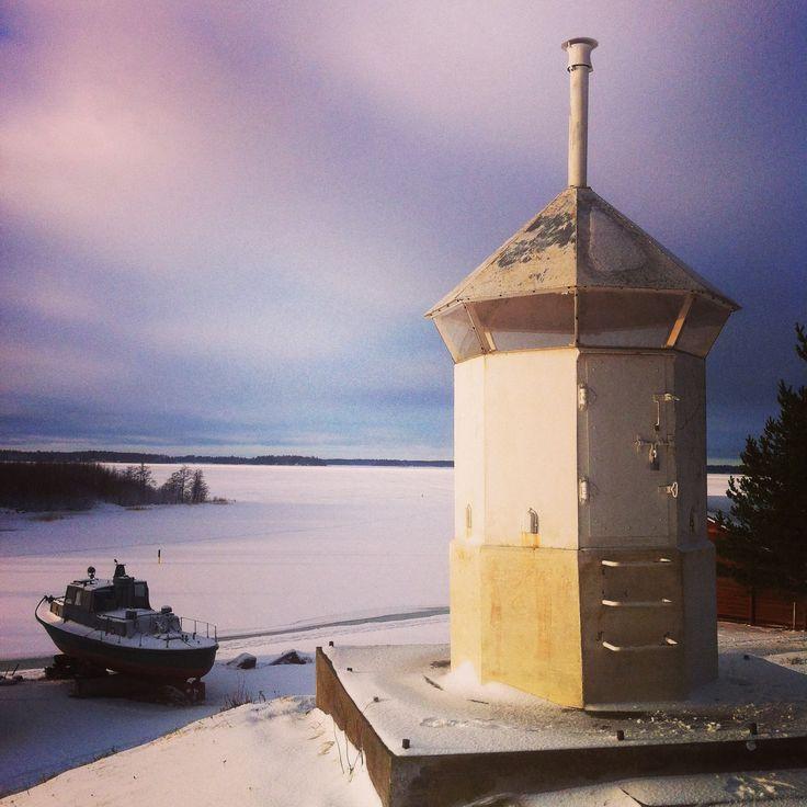 The frozen Gulf of Bothnia in Vaasa, Finland.