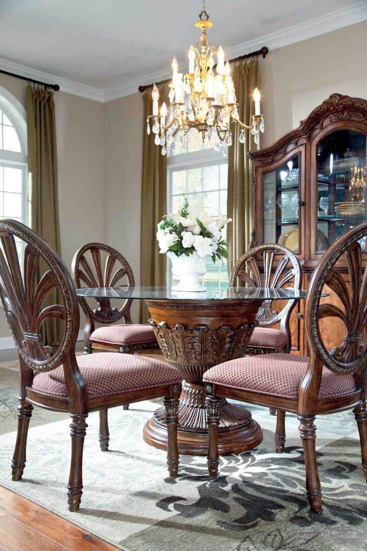 Ledelle Dining Room Round Glass Table U0026 4 Chairs, JR Furniture | Furniture  Store With Locations In Portland, Seattle U0026 Vancouver | Pinterest | Round  Glass, ...