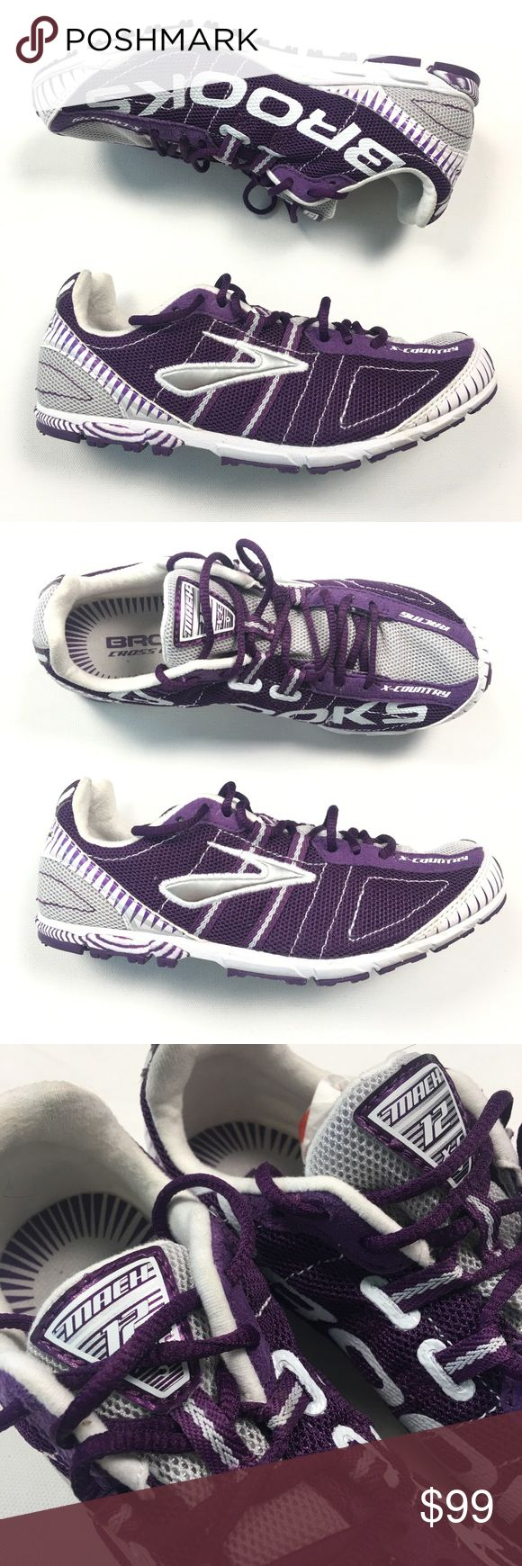 Brooks Womens Purple Cross Country Running Shoes $119 NEW Brooks Womens 6 B 37 Mach 12 Purple Cross Country Light Running Shoes. B80. New, no box Brooks Shoes Sneakers #crosscountryrunning