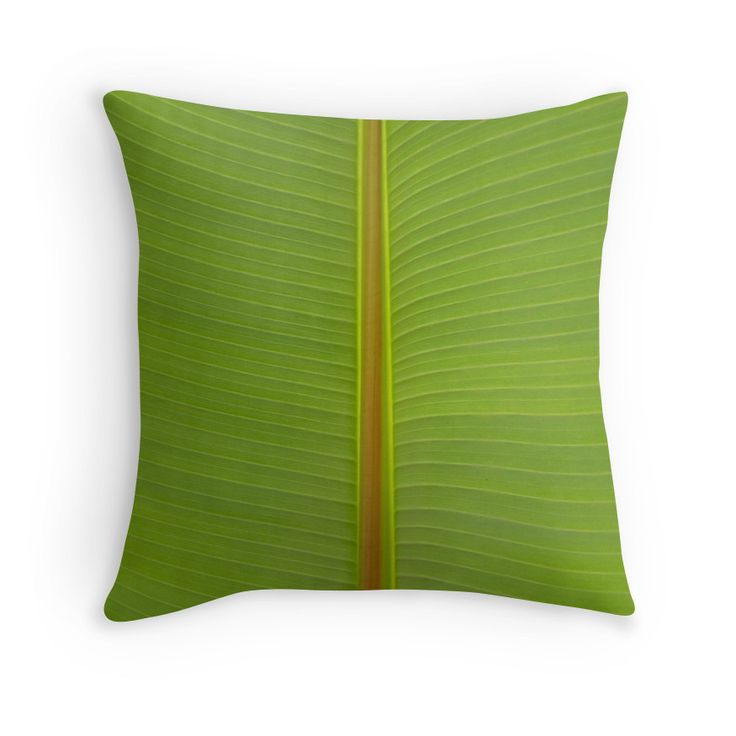 Bright Tropical Lime Green Jungle Leaf Vein Stripe Natural Pattern  Photographic Print Garden Pillow Cushion printed