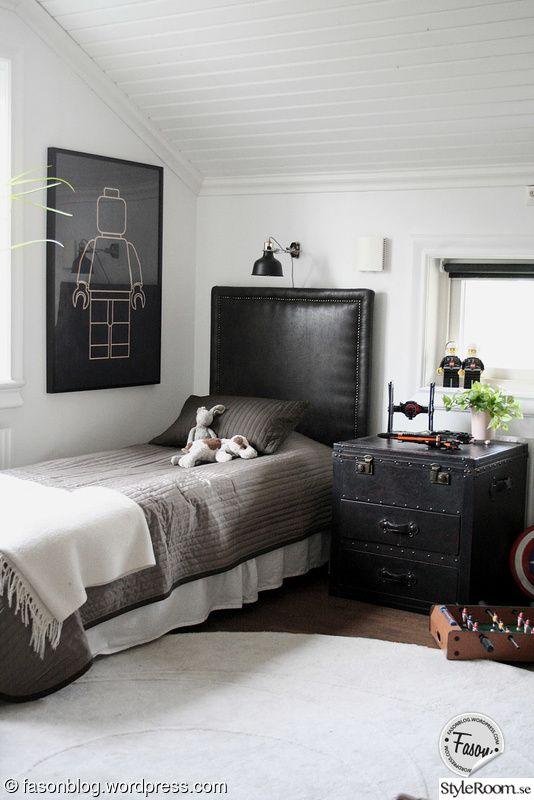 barnrum,pojkrum,sänggavel,sovrum,koffert