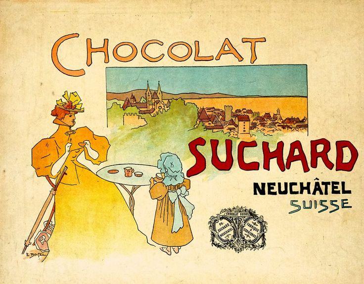 Cacao Suchard, Neuchâtel, Suisse. Edmond BOITEL (1890 circa)