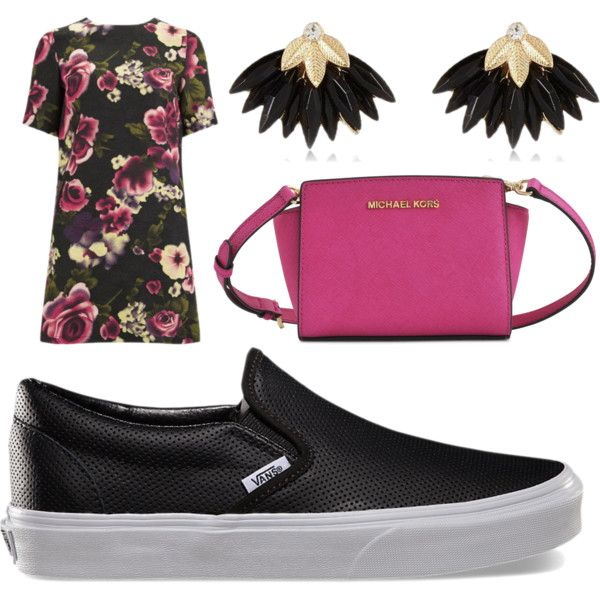 Sporty 'n Chic...still Girly! Love! by argkalant on Polyvore featuring polyvore fashion style Girls On Film Vans Michael Kors River Island