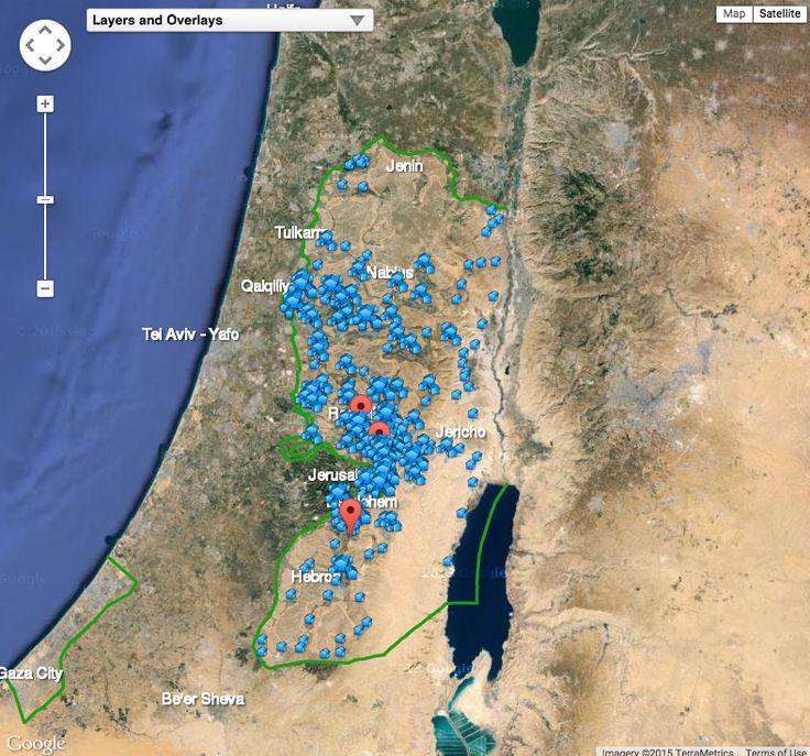 See this interactive map of Israeli settlements