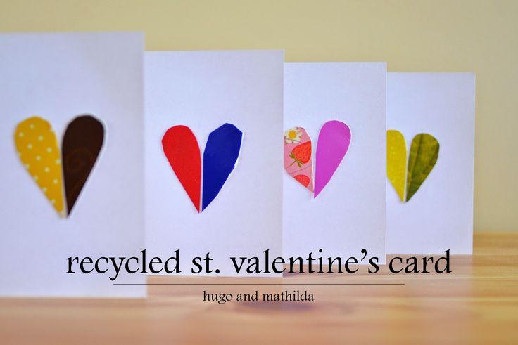 Hugo und Mathilda: Valentinstagkarten aus recycelten Materialien   – Valentines