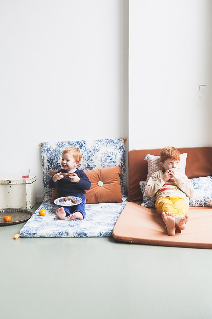 Create a reading corner in your playroom or linving room with these beautiful playmats and cushions