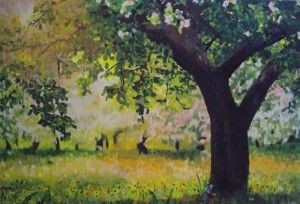 Summer Orchard Dandelions by Teresa Tanner