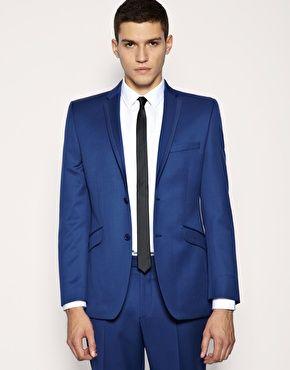 Синий однотонный пиджак Lambretta