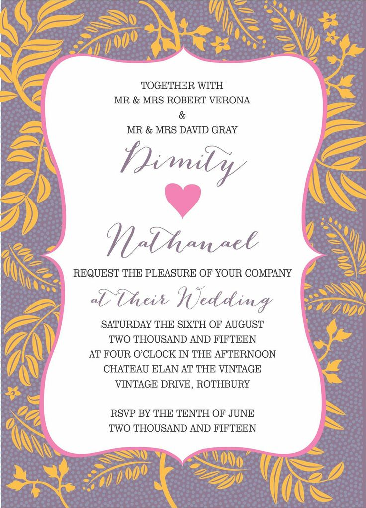 15 best wedding invitations by couture card company images on uniquely beautiful this modern wedding invitation design is available in both lavender and golden orange stopboris Gallery