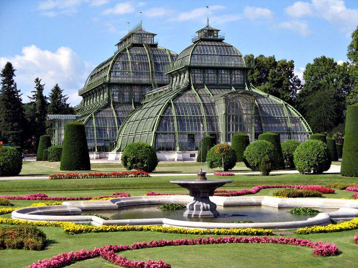 conservatories at schonbrunn palace, vienna, austria