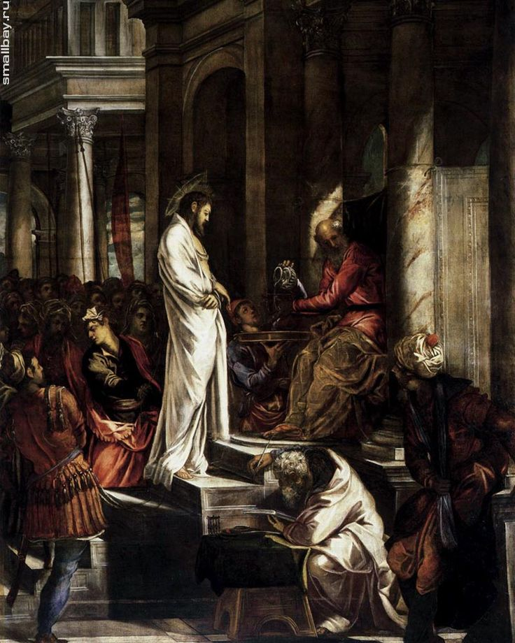 Тинторетто. Христос перед Пилатом, 1565-1567 г.