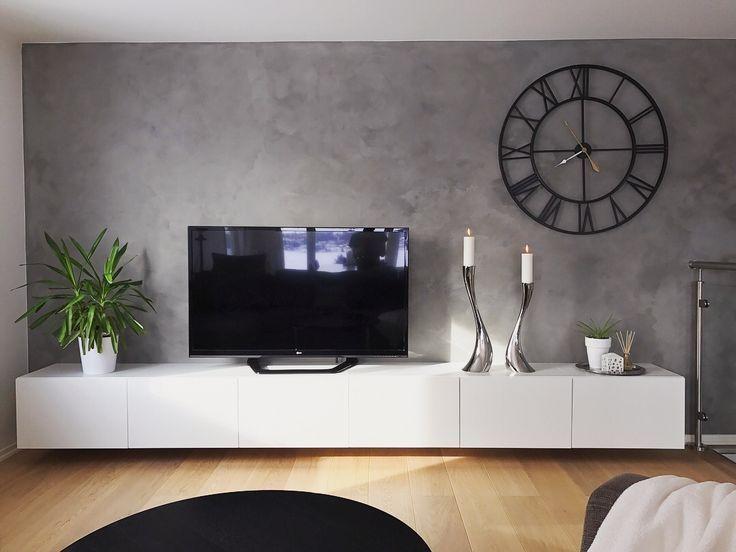 Wohnzimmer Wandmalerei Farbe Jotun Lady Minerals Vallmofro Tv