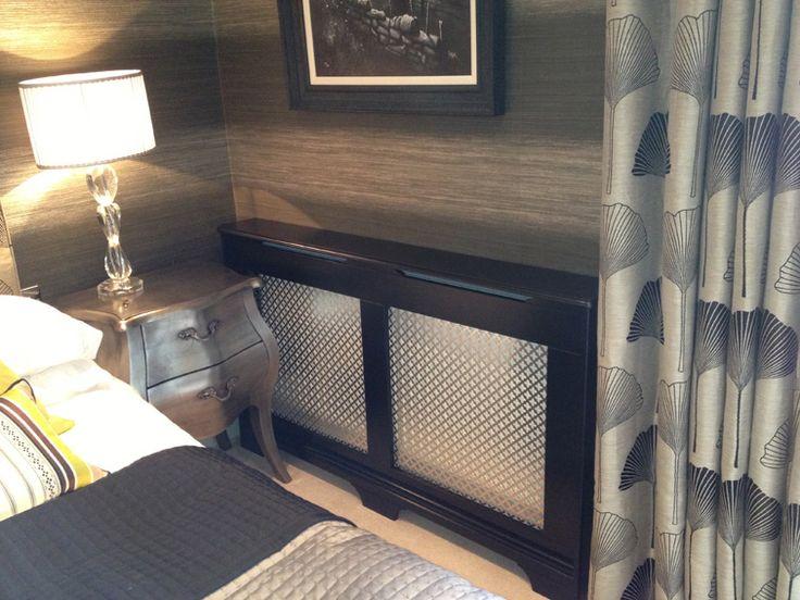 satin black radiator cover traditional