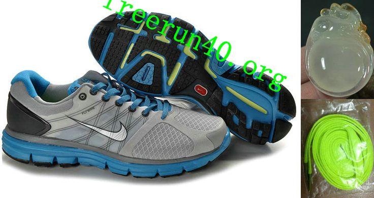 Mens Nike Lunarglide 2 Gray Blue Black Shoes