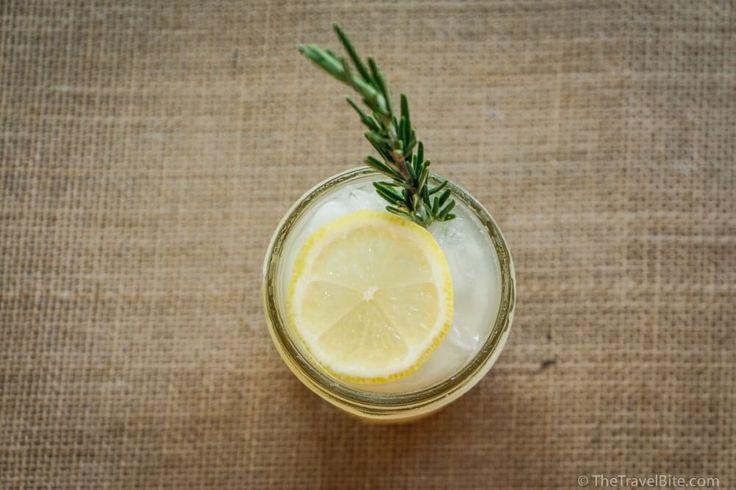 Lemon Rosemary Gin Fizz ~ http://thetravelbite.com
