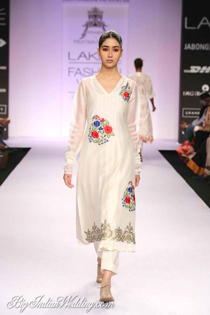 Pratima Pandey at Lakme Fashion Week Summer/Resort 2014 #salwaar kameez #chudidar #chudidar kameez #anarkali #anarkali suits #dress #indian #outfit  #shaadi #bridal #fashion #style #desi #designer #wedding #gorgeous #beautiful